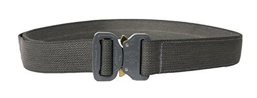 """1.5/"""" Wolf Gray Large Elite CO Shooters Belt with Cobra Buckle"""