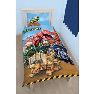 dinotrux mechanix monster kinder bettw sche bettbezug 135 x 200 cm neu 5055285397814 ebay. Black Bedroom Furniture Sets. Home Design Ideas