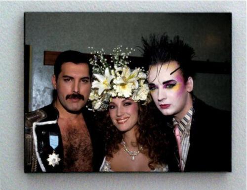 Rare Framed Freddie Mercury Boy George Jane Seymour Vintage Photo Giclée Print