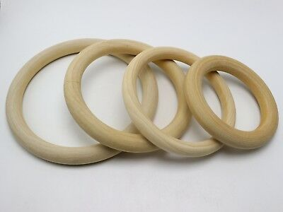 Large Unfinished Natural Untreated Plain Wooden 100mm-150mm Wood Round Ring DIY