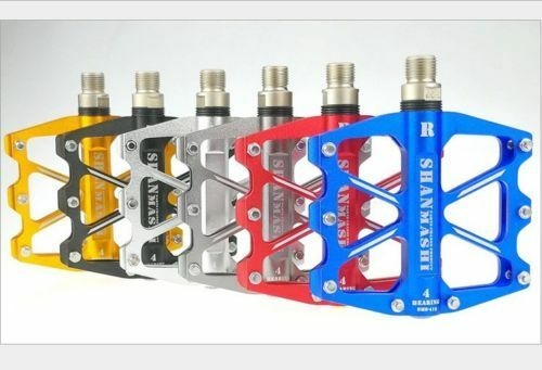 Aluminum MTB Mountain Road Bike Pedals flat  Platform Bicycle Pedal 4 Sealed  first time reply