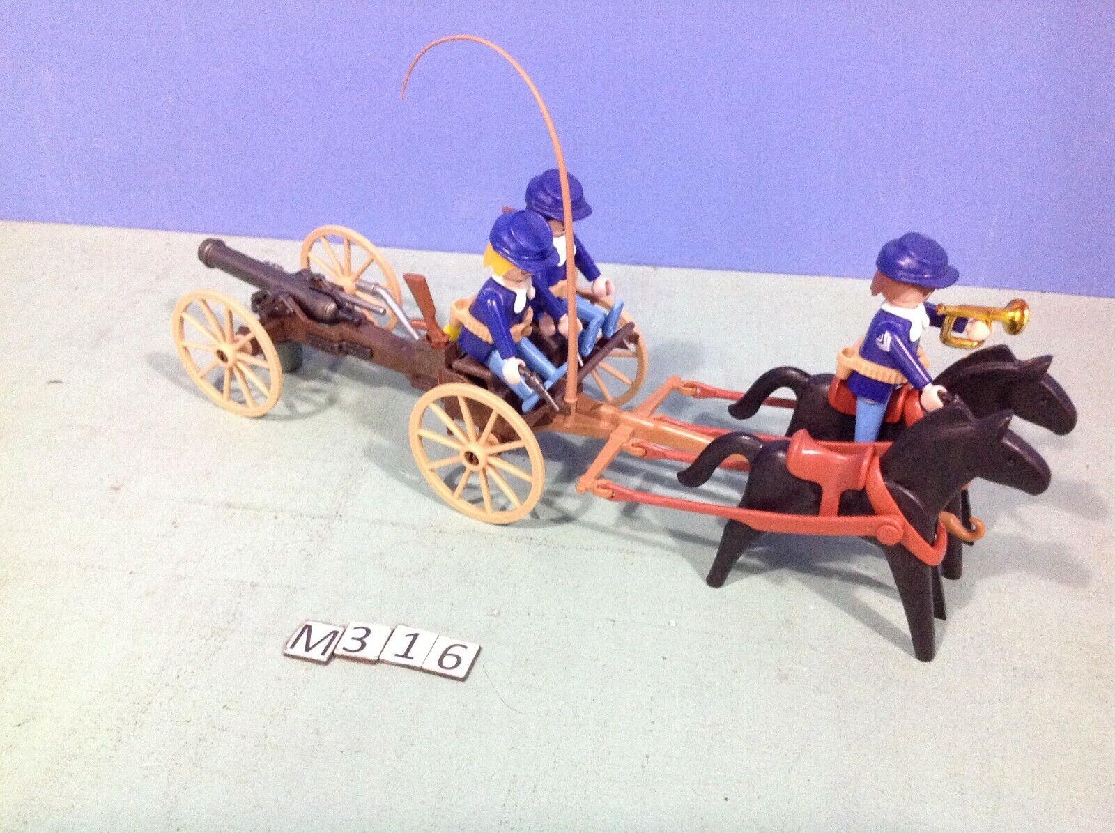(M316) playmobil Chariot canon Nordistes ref 3729 western Sudistes 3806 5245