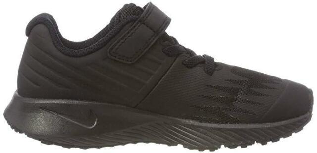 All Black 921443 005 Kid/'s Running Shoes PSV Nike Star Runner