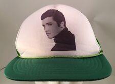 Vintage Young Elvis Presley Photo Green Rope Front Snapback Trucker Hat