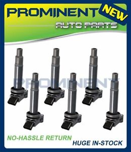 Pack of 6 Ignition Coils For Toyota Camry Avalon Lexus ES300 RX300 3.0L V6 UF267
