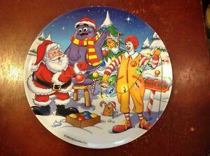 Christmas New Vintage McDonald/'s Holiday Plate Ronald McDonald