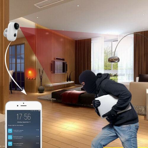 HD Audio 1080P Security Camera Wireless,WiFi Battery Operated Bullet IP Camera
