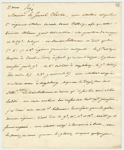 Napoleon Bonaparte Signed Letter from Polish Campaign, War of the 4th Coalition