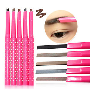 Wasserdicht-Langlebig-Eyeliner-Augenbrauenstift-Kosmetik-Make-up-Tool-set