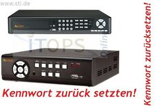LE800 LE800+ LE800D1 LE808 16 DVR Passwort Kennwort Benutzerkennung zurücksetzen