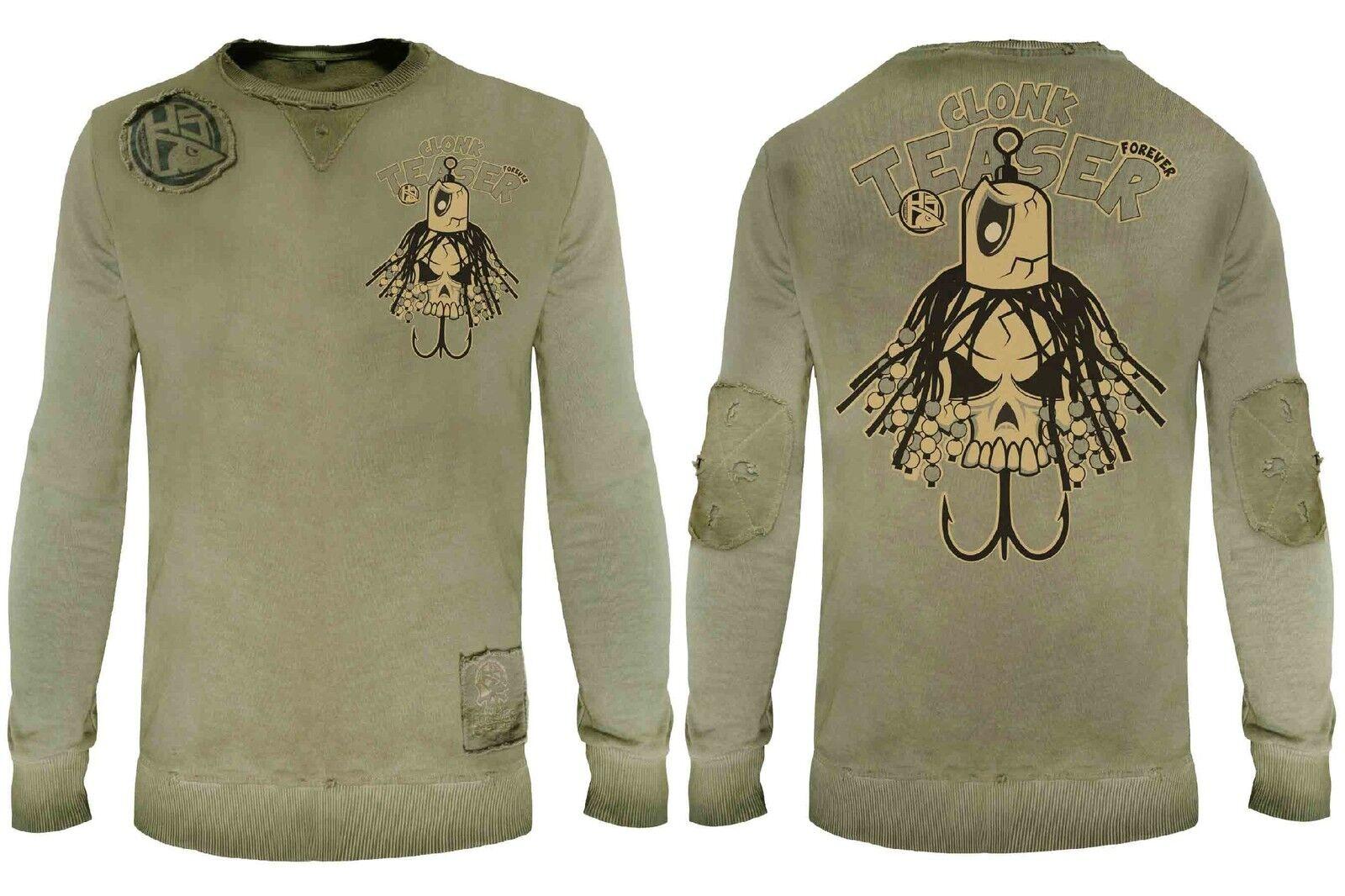 Hotspot Design Sweatshirt Teaser Clonk Teaser Sweatshirt Forever - Collection Vintage, gelb grün 3268f8