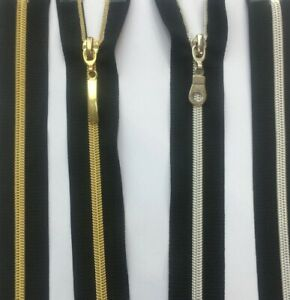 CLOSED-END-NYLON-BLACK-SILVER-AND-GOLD-ZIP-FREE-POSTAGE-BUY-3-GET-1-FREE