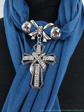 US SELLER   rhinestone cross scarf with pendant jewelry jewelry pendant