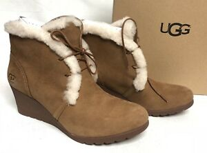 62dcb9d80b41 Image is loading UGG-Australia-Jeovana-Boots-Chestnut-Suede-Waterproof-WP-