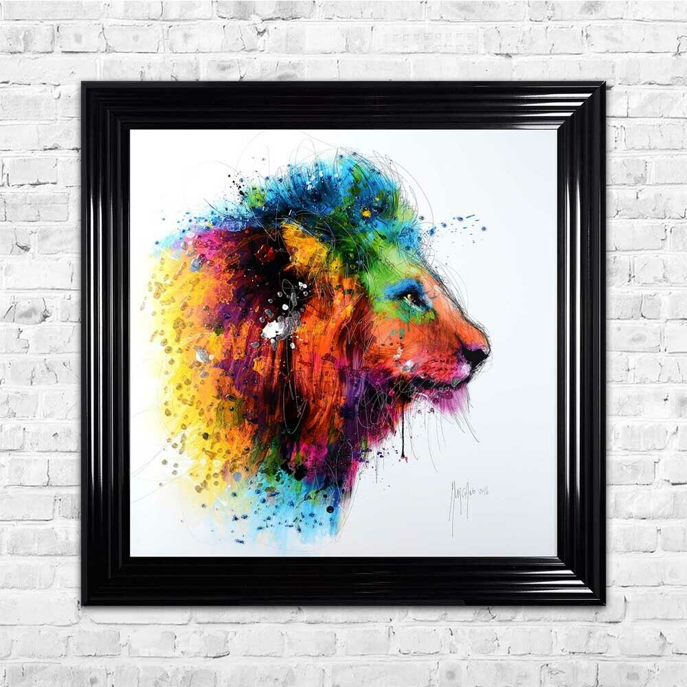Patrice Murciano LION With Glitter Resin 85 x 85cm  Various Frames