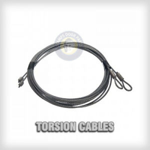 Garage-Door-Cables-1-8-034-Pair-Torsion-Spring-7ft-8ft-9ft-10ft-11ft-12ft
