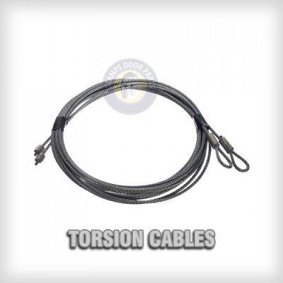 Garage Door Cables 1 8 Quot Pair Torsion Spring 7ft 8ft
