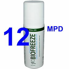 CASE OF 12 BRAND NEW BIOFREEZE ROLL-ON PAIN RELIEVING ROLL ON 3 OZ