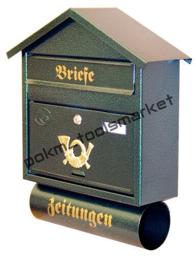 Grand Boîtes aux Lettres XXL Porte-Journaux Design Rétro 6 Couleurs T3//T