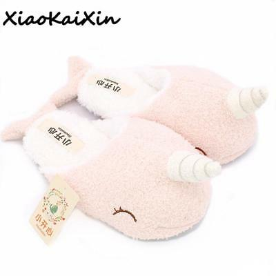 Unicorn Slippers Cute Indoor Winter Pink Non Slip Extra Wide Women Slippers