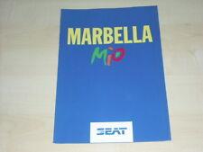 51443) Seat Marbella Mio Prospekt 03/1993
