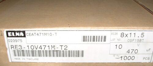 40  Elna RE3-10v471M 470uf 10V electrolytic capacitors 8x11.5mm 471 85/'C 470 uf