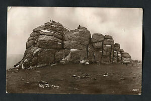 Posted-1927-View-of-People-on-Hay-Tor-Rocks-Dartmoor