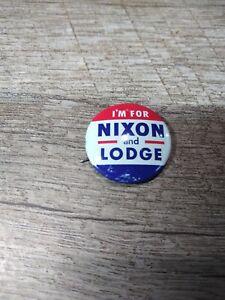 """1959//60 I/'m For Nixon Lodge Pin Button Pinback Presidential Campaign 1/"""""""