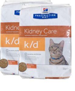 2x5kg Hills Prescription K / d Soins du rein, régime alimentaire, nourriture pour chats