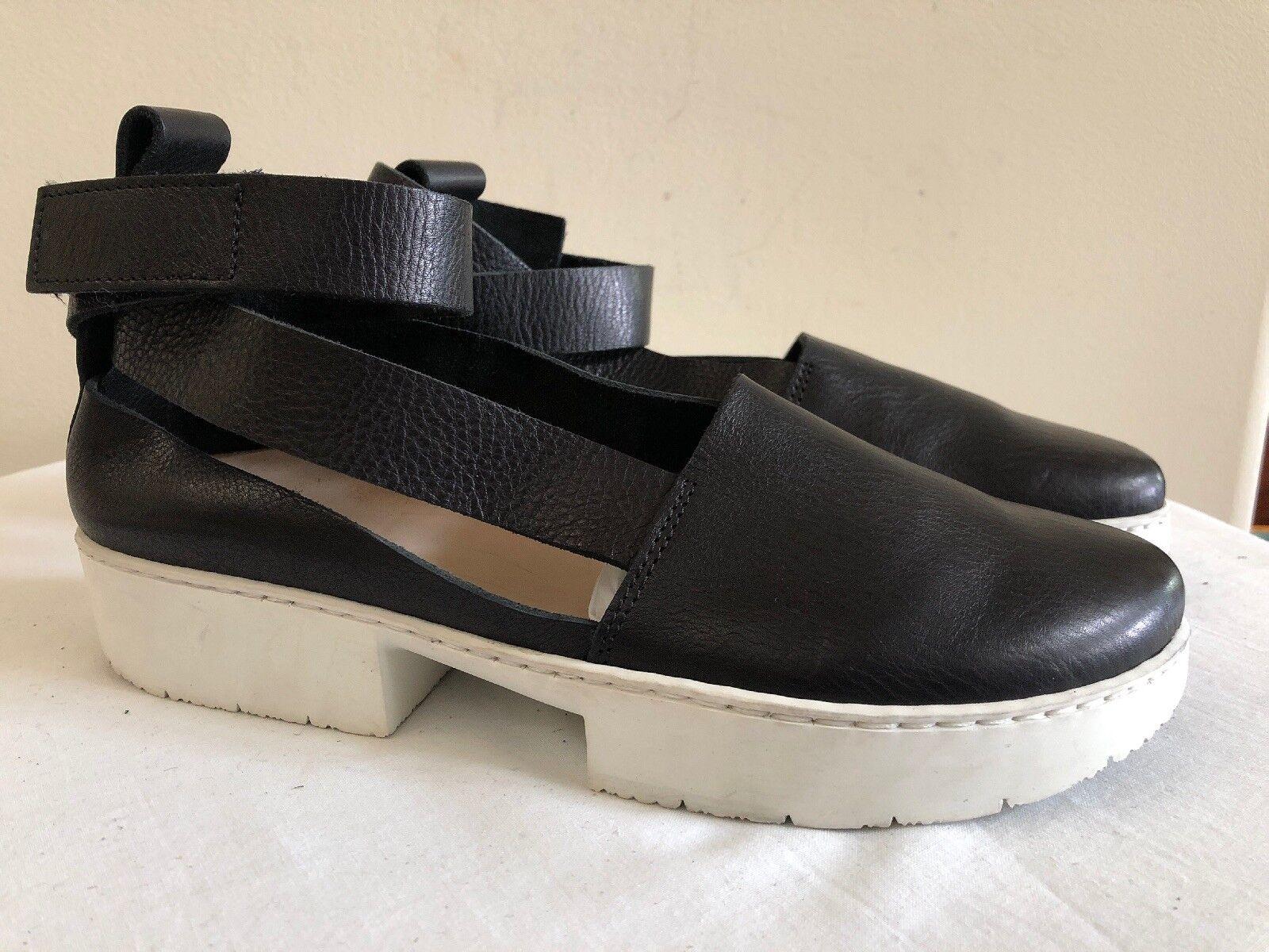 Nuevo Nuevo Nuevo Sin Caja Trippen Negro Cuero Deporte Sandalias Zapatos, EU 40   9 de EE. UU.  comprar nuevo barato