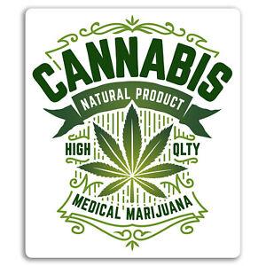2-x-10cm-Cannabis-Vinyl-Stickers-Weed-Dope-Marijuana-Fun-Sticker-Laptop-18061