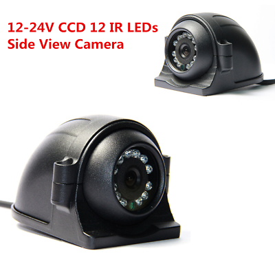Heavy Duty 4 Pin 12 IR LED Night Vision Car Van Bus Side View CCD HD Camera Kit
