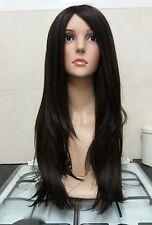 Glamour, Brown Black Human Hair Wig, Real Hair, Hair Blend,