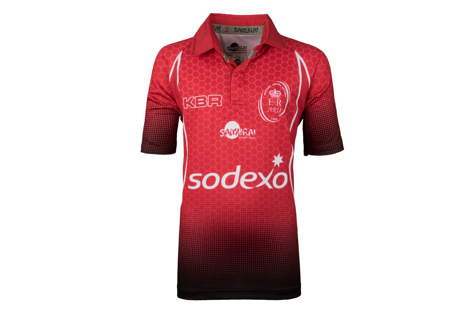 Samurai Army Rugby Union 2018 Kids Home Short Sleeve Shirt Red Top Sports