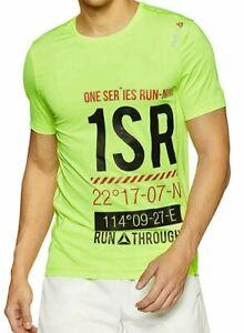 Detalles de Para Hombre Correr Reebok One Series SS T Shirt solar amarillo medio ver título original