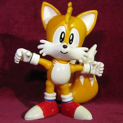 2 5 6cm Tomy Classic Tails The Fox Figure Toy Sega Sonic Hedgehog Jointed Game Ebay
