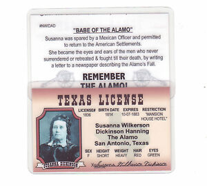 Toy Drivers License Susanna Wilkerson Dickinson Hanning