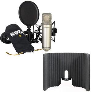 rode nt1 a condenser microphone with primacoustic voxguard reflection filter ebay. Black Bedroom Furniture Sets. Home Design Ideas