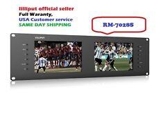 "Lilliput Dual 7"" RM-7028S 3G-SDI HDMI 3RU Rack Monitor for Live Broadcast +TALLY"