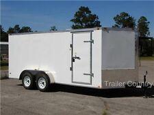 NEW 7x14 7 x 14 V-Nose Enclosed Cargo Trailer w/ Ramp