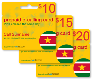 Details about Cheap International calling card for Suriname with emailed PIN