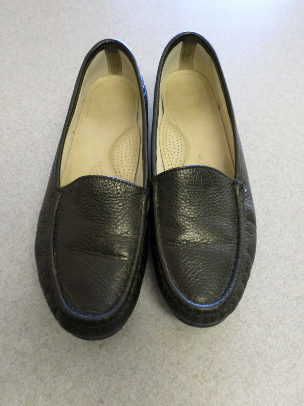 SAS Black Leather Loafers Women's 10.5 Narrow made in USA