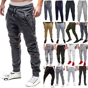 5ebeacda6440ba Image is loading Men-Trousers-Casual-Sweatpants-Harem-Track-Pants-Joggers-