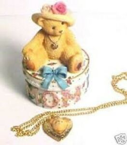 Collectible Cherished Teddies Mom Maker of Miracles with Matching Locket   NIB