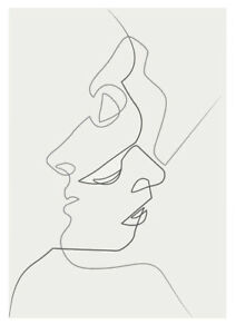 a4774c388df16 Details about Art Print POSTER / CANVAS One Line Drawing Face Sketches  Quibe Minimalism