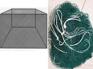 Fischgehege Hälternetz 1-5m H1,5m #10//20mm Knotenlosegarn Reuse Käscher Zugnetz