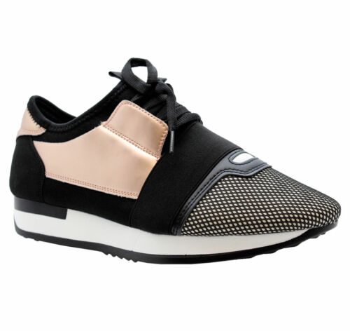 LADIES WOMENS LACE UP BAIL RUNNING FITNESS GYM SPORT WALKING TRAINERS SHOES SIZE