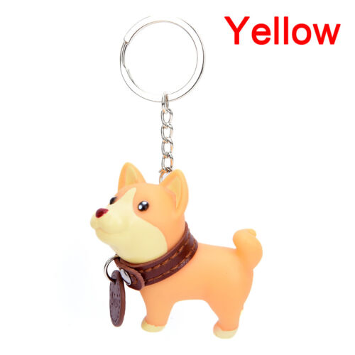 Adorable Cute Dog Puppy Husky Terrier Key Chain Ring Toy Figurine With Collar OJ