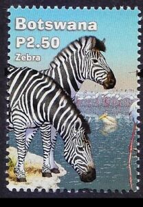 Botswana-2017-MNH-Zebra-Wild-Animals-A64