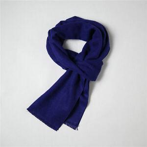 Image is loading Sherlock-Holmes-Navy-Blue-Wool-Muffler-Scarf-Men-